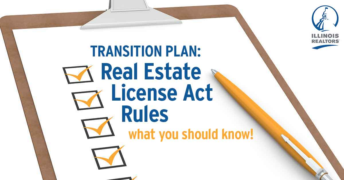 Transition plan to accommodate lack of License Act Rules - Illinois