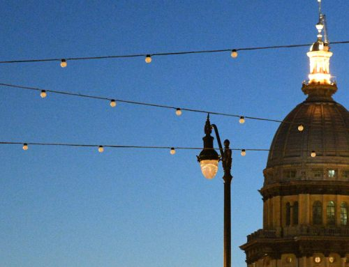 Lights make flashy debut at Bicentennial Plaza as project's completion date nears