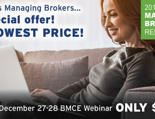 Best prices for Managing Broker license renewal BMCE Webinar offered in December