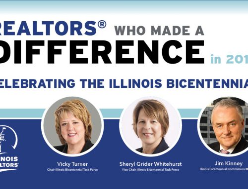 Trio helped Illinois REALTORS® play key role in state bicentennial